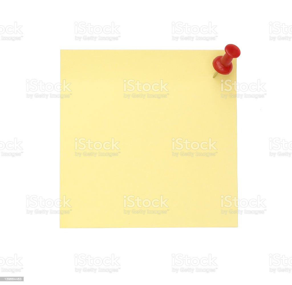 yellow note royalty-free stock photo