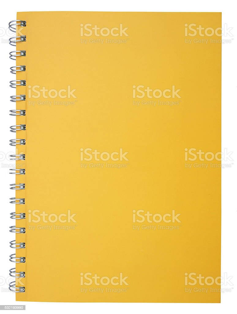 Yellow notebook stock photo