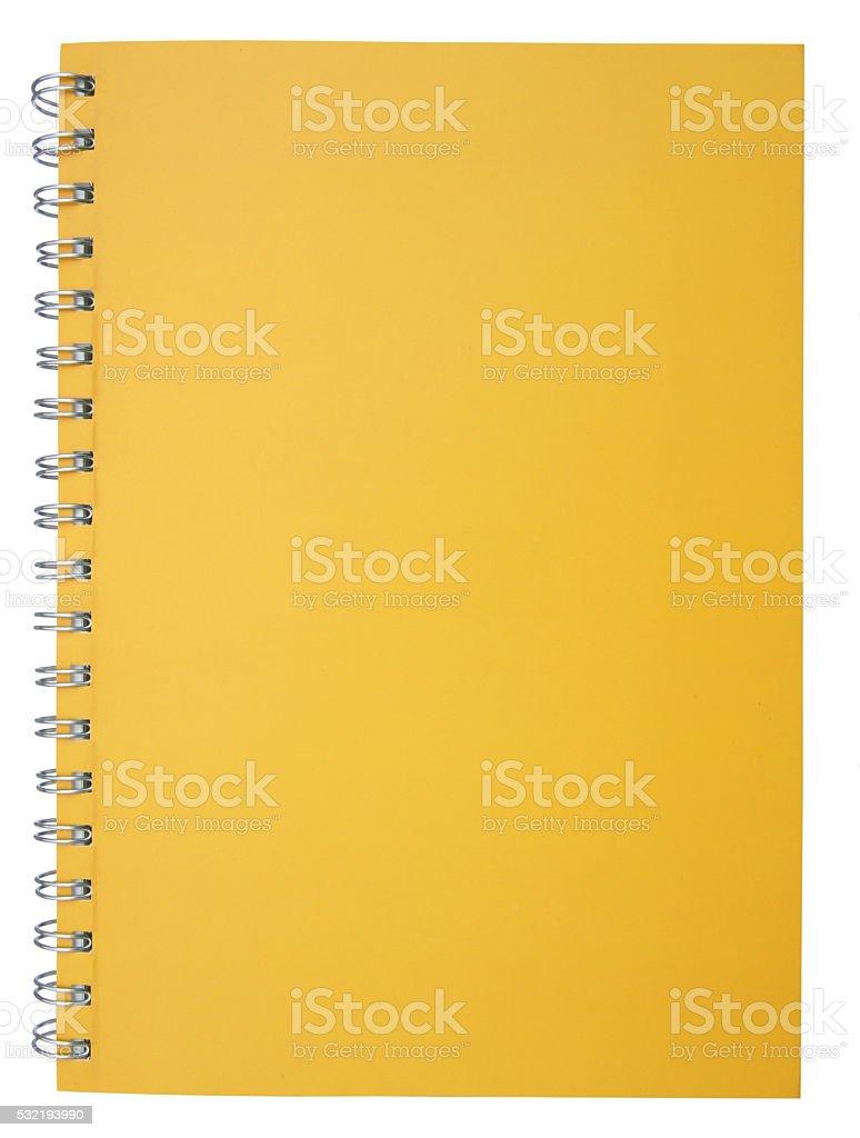 Yellow notebook stock photo