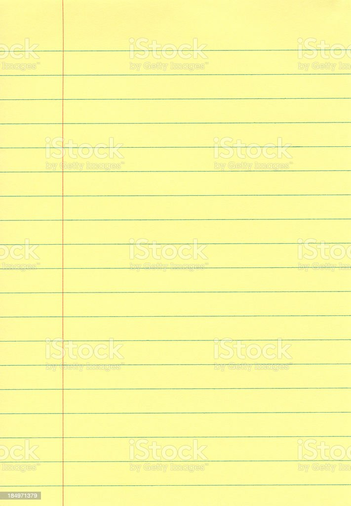 Yellow Notepad stock photo