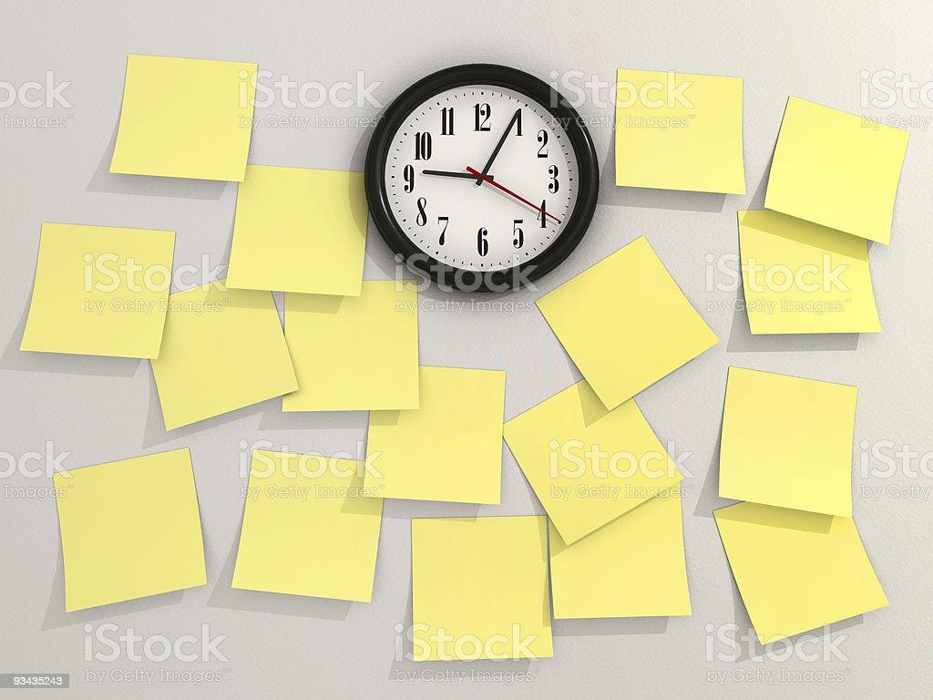 Yellow notes royalty-free stock photo