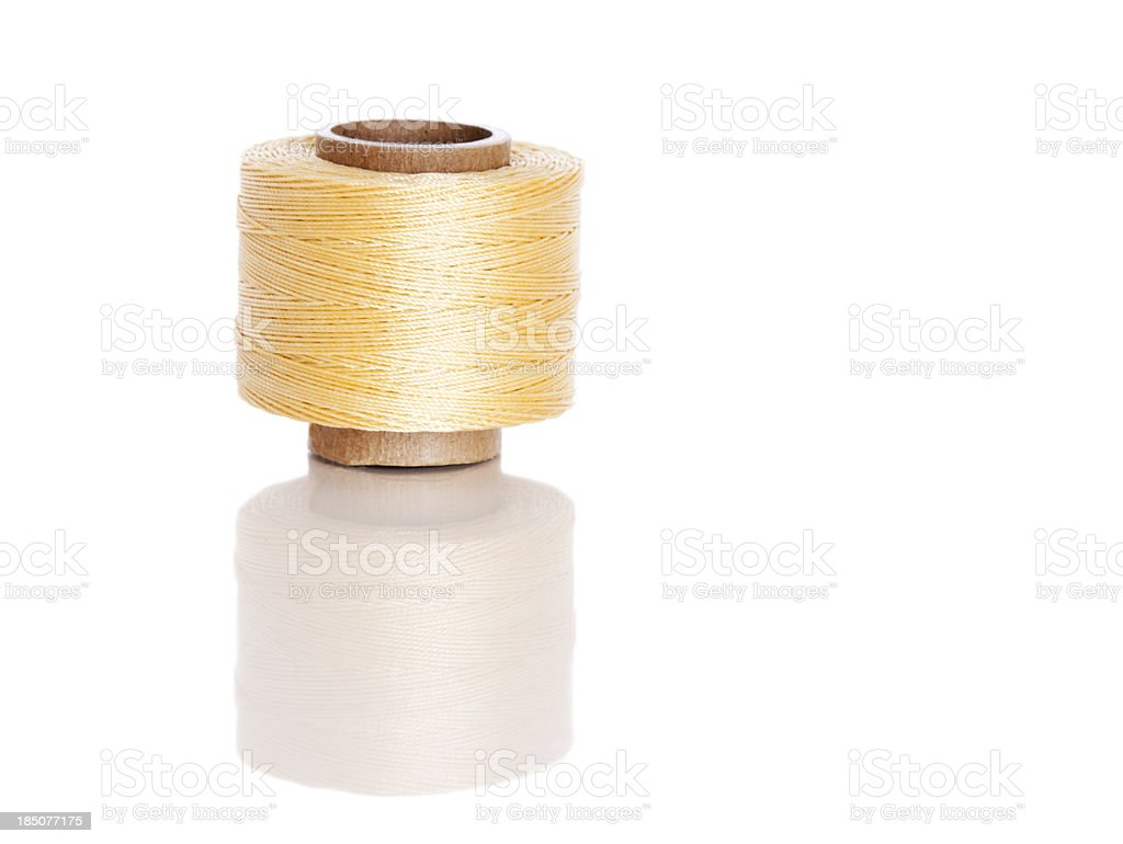 Yellow Nylon Thread stock photo