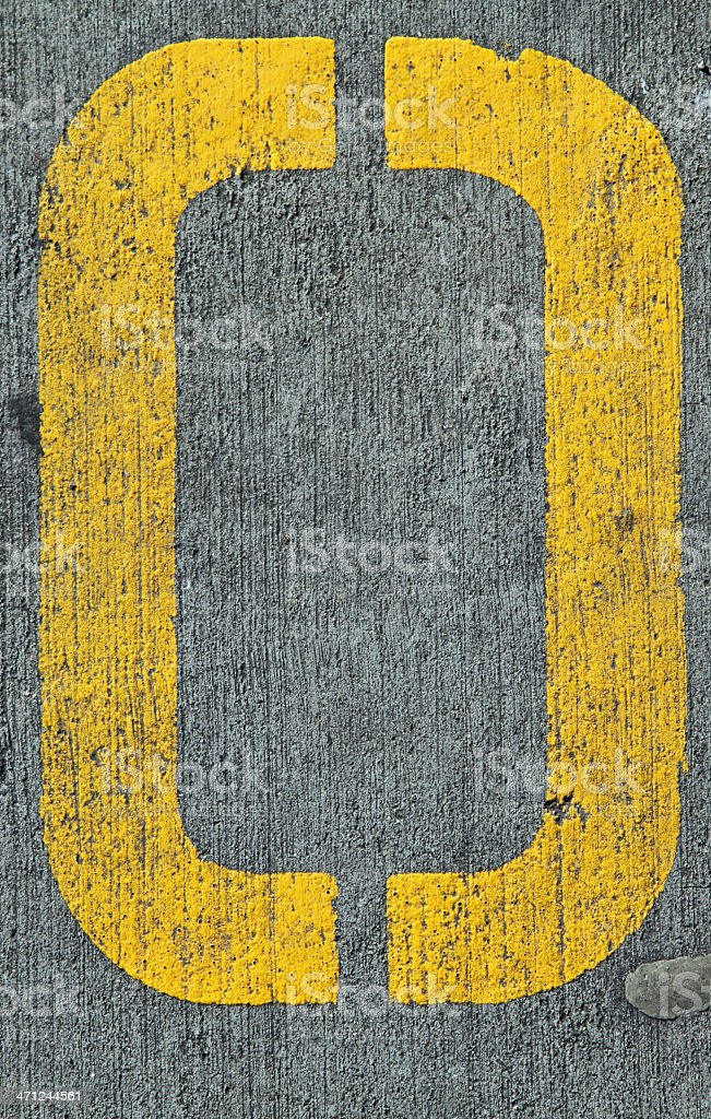 Yellow O royalty-free stock photo