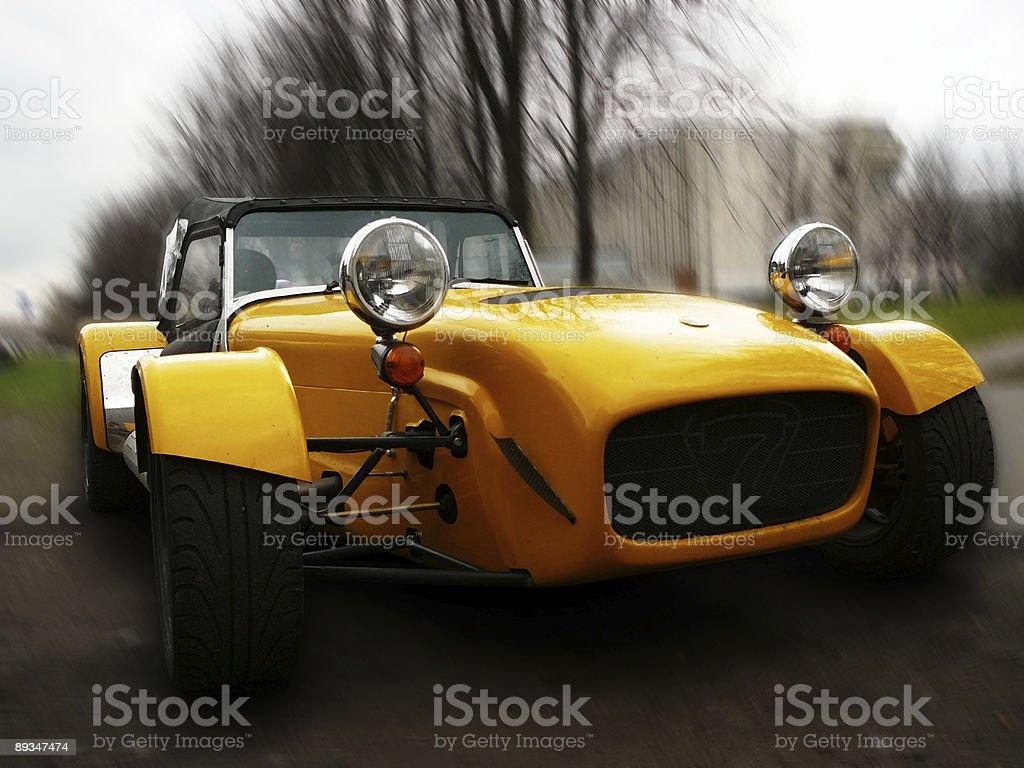 yellow oldtimer1 royalty-free stock photo