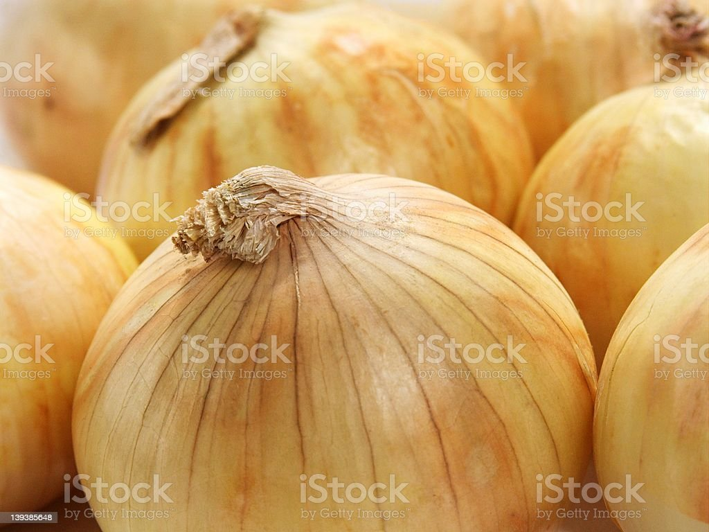 Yellow onions stock photo