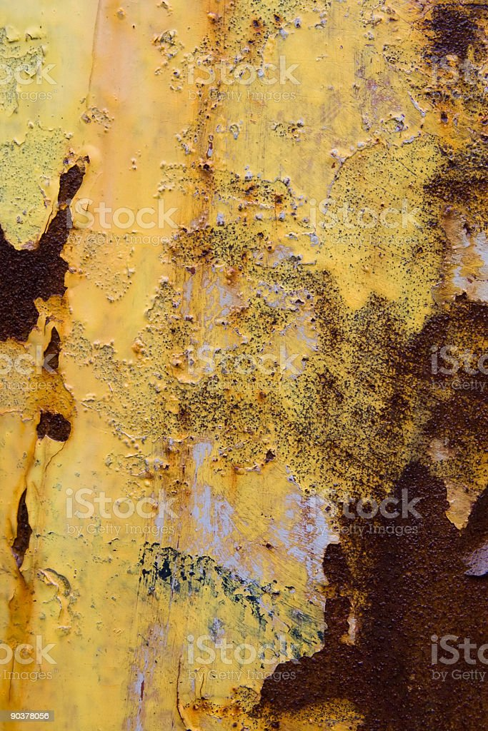 Yellow, orange and rust grunge background royalty-free stock photo