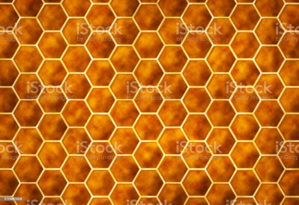Yellow Orange Modern Abstract Hexagon Honeycomb Pattern Technology Background Architecture stock photo