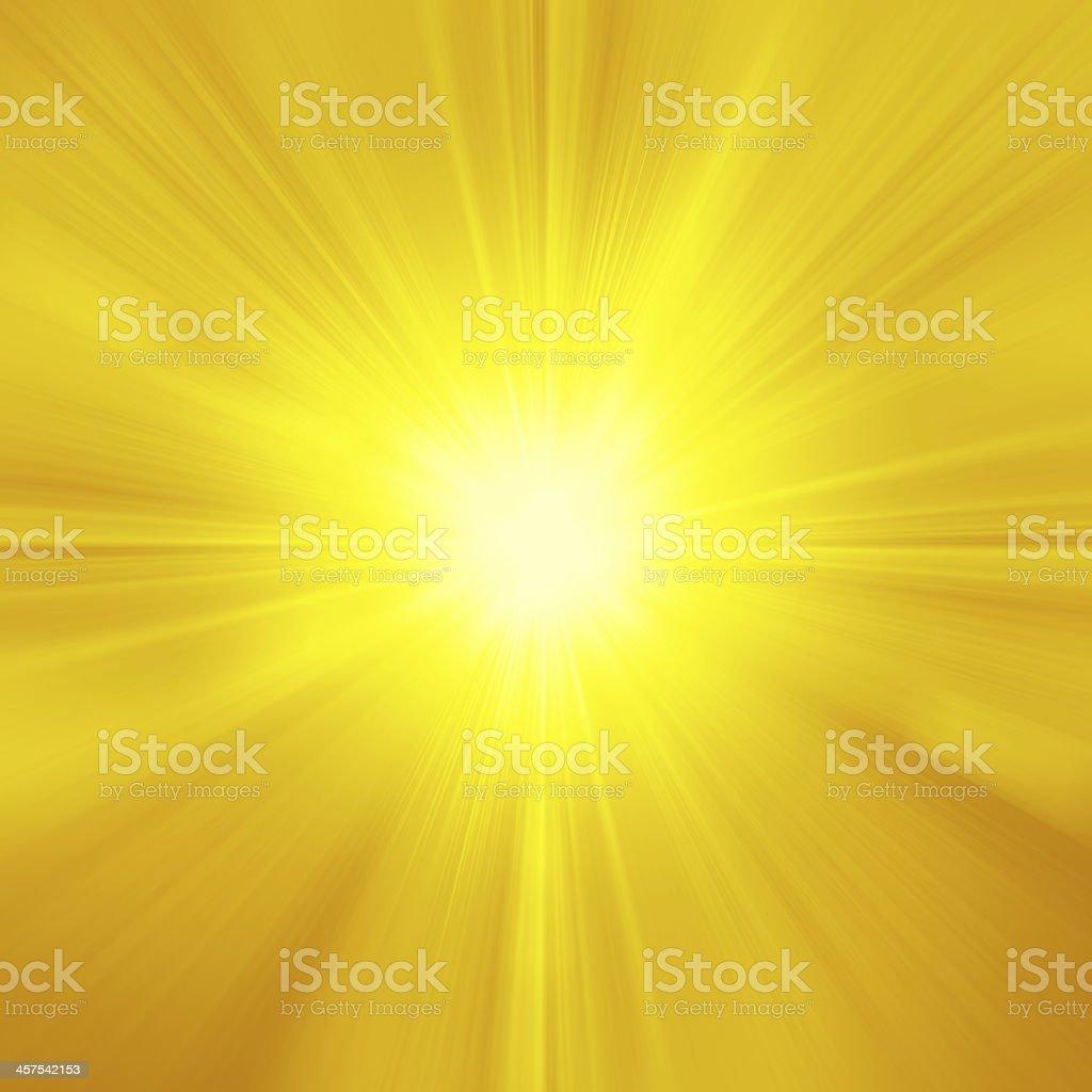yellow orange summer sun light burst stock photo