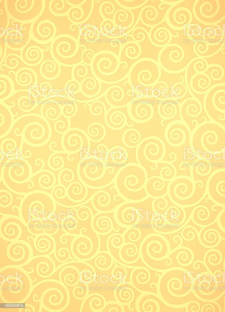 Yellow ornamental background royalty-free stock photo