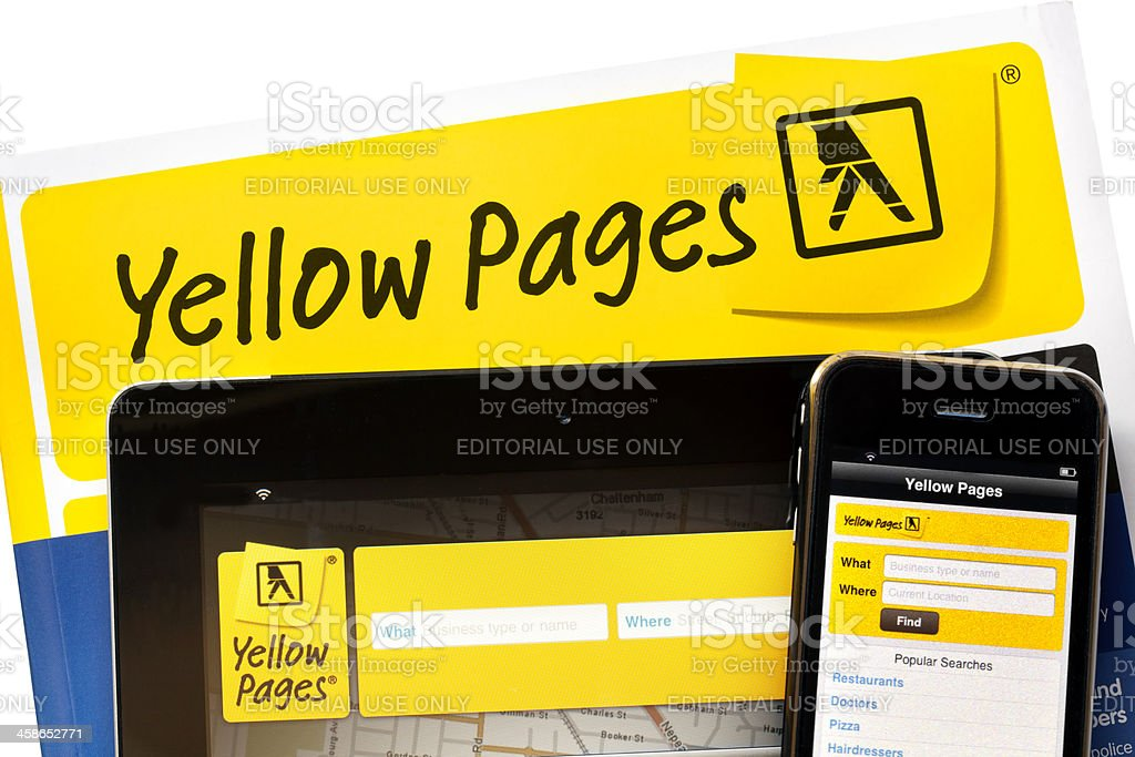 Yellow Pages Online stock photo