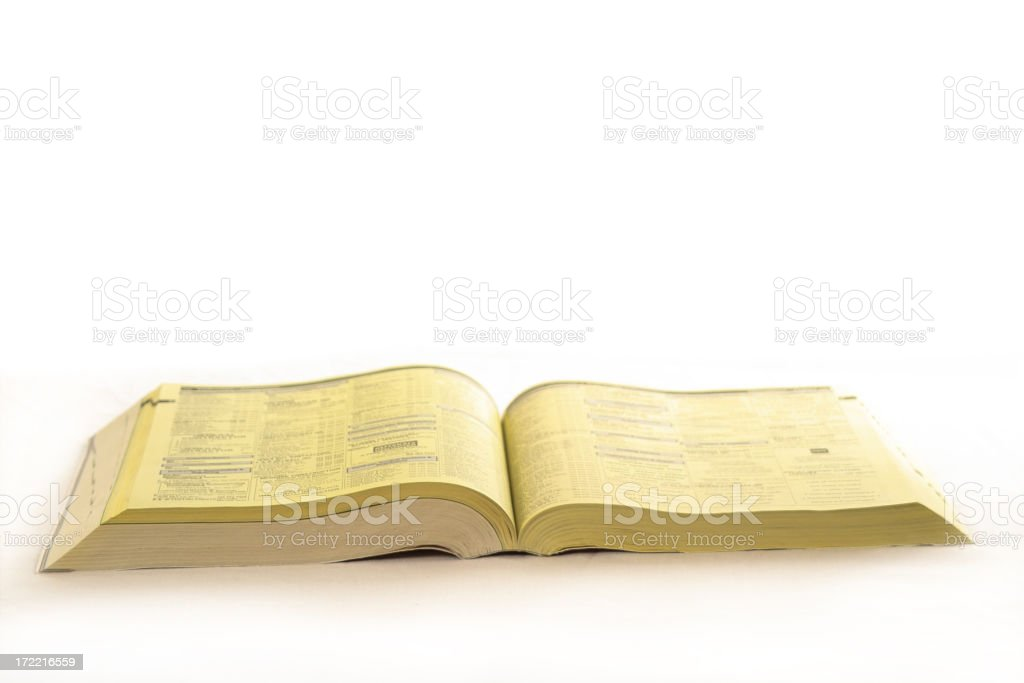 Yellow Pages stock photo