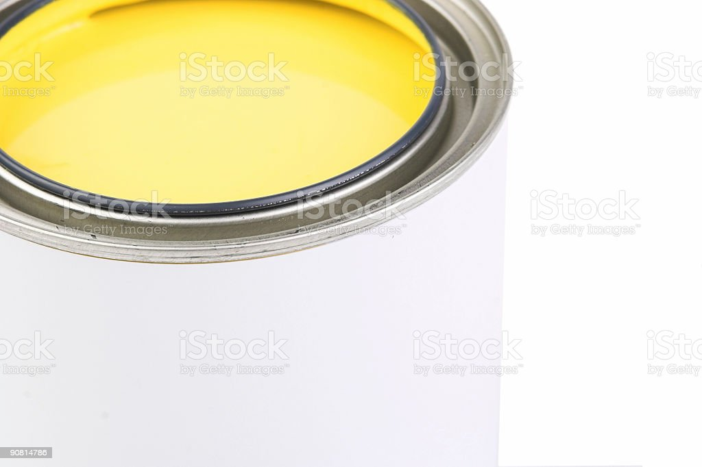 Yellow Paint Can royalty-free stock photo