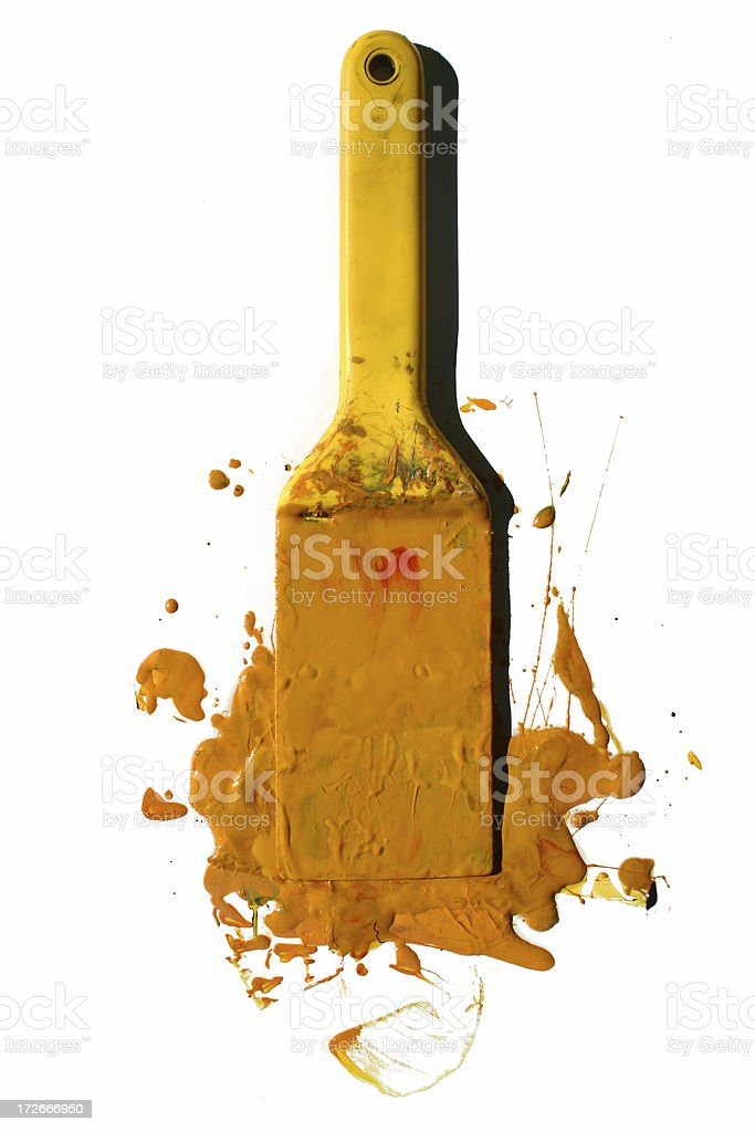 Yellow Paint royalty-free stock photo