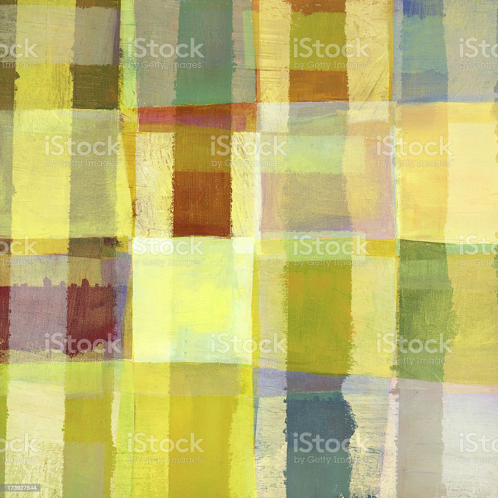 Yellow Painted Abstract royalty-free stock photo