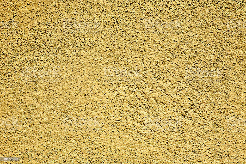 Yellow Painted Texture Wall stock photo