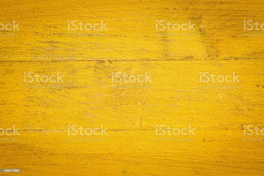 yellow painted wood background stock photo