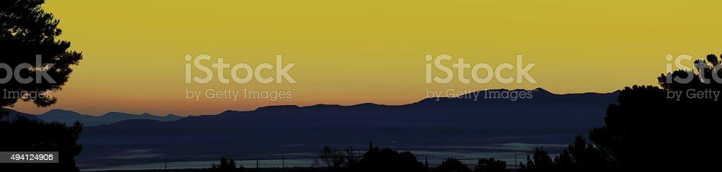 Yellow Panaromic stock photo