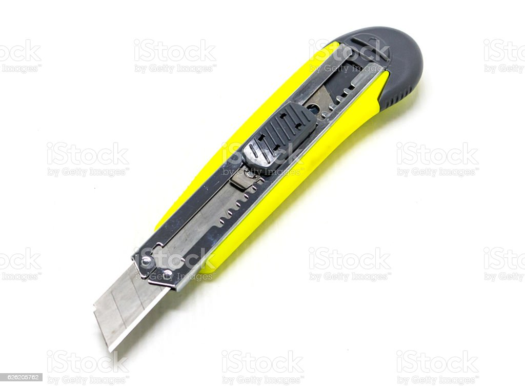 Yellow paper cutter royalty-free stock photo
