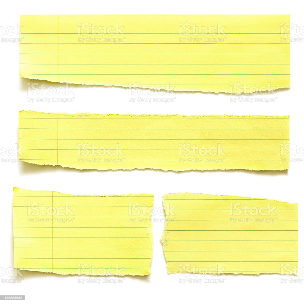 Yellow Paper Tears stock photo