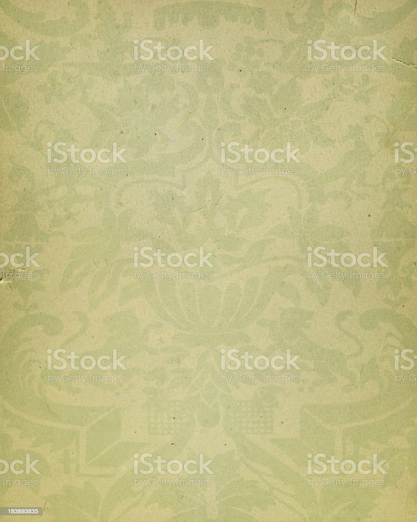 yellow paper with floral pattern royalty-free stock photo