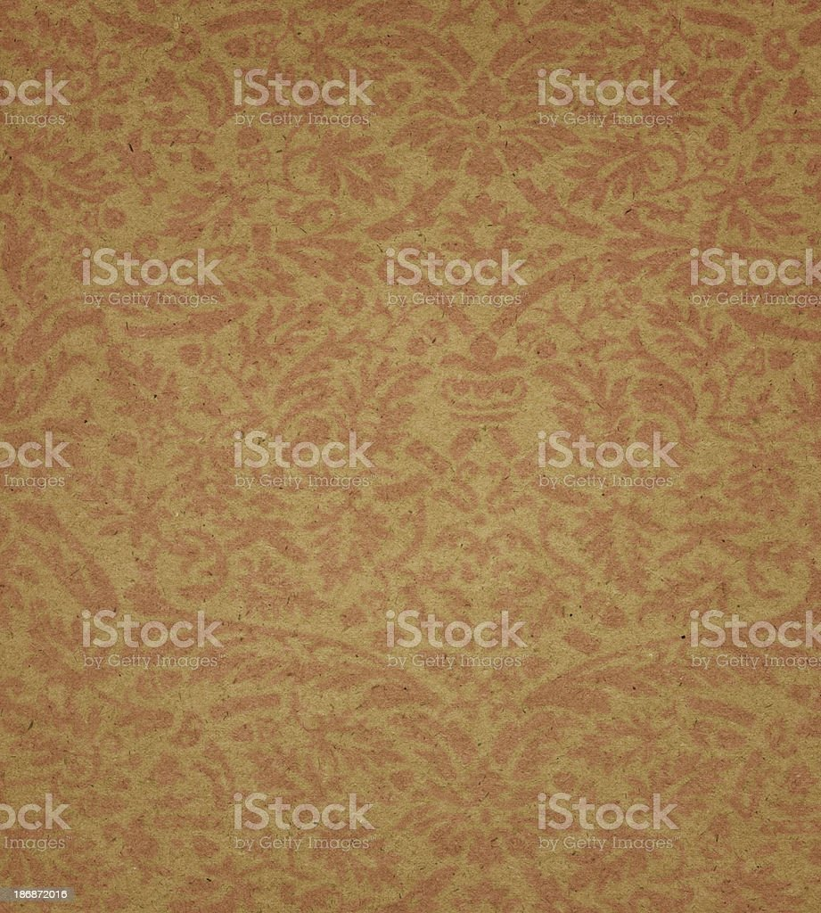 yellow paper with floral pattern stock photo
