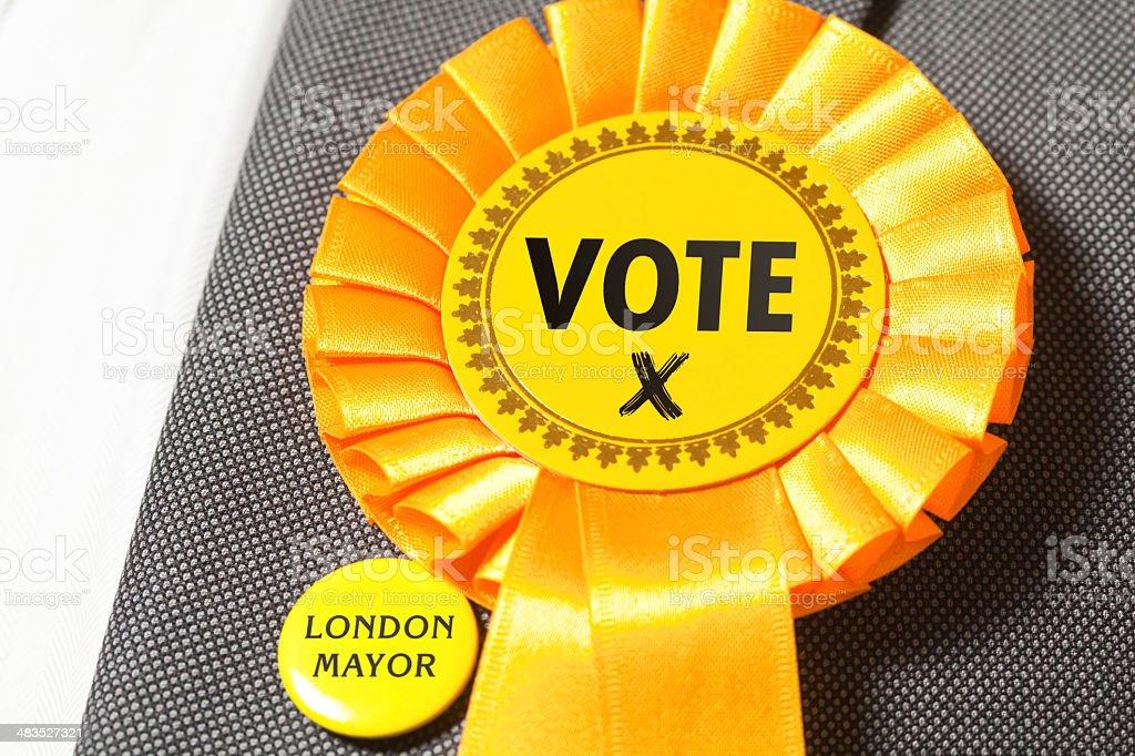 Yellow Party Vote stock photo