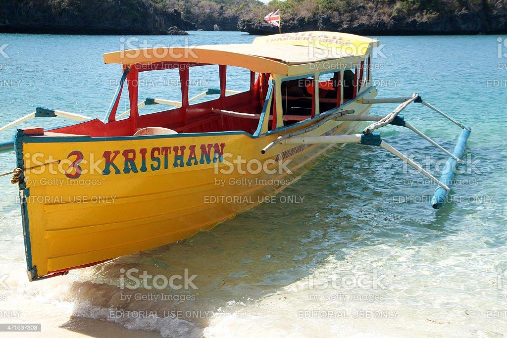 Giallo passeggero barca nelle Filippine foto stock royalty-free