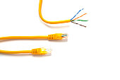 Yellow patch-cords with RJ45 for Lan network