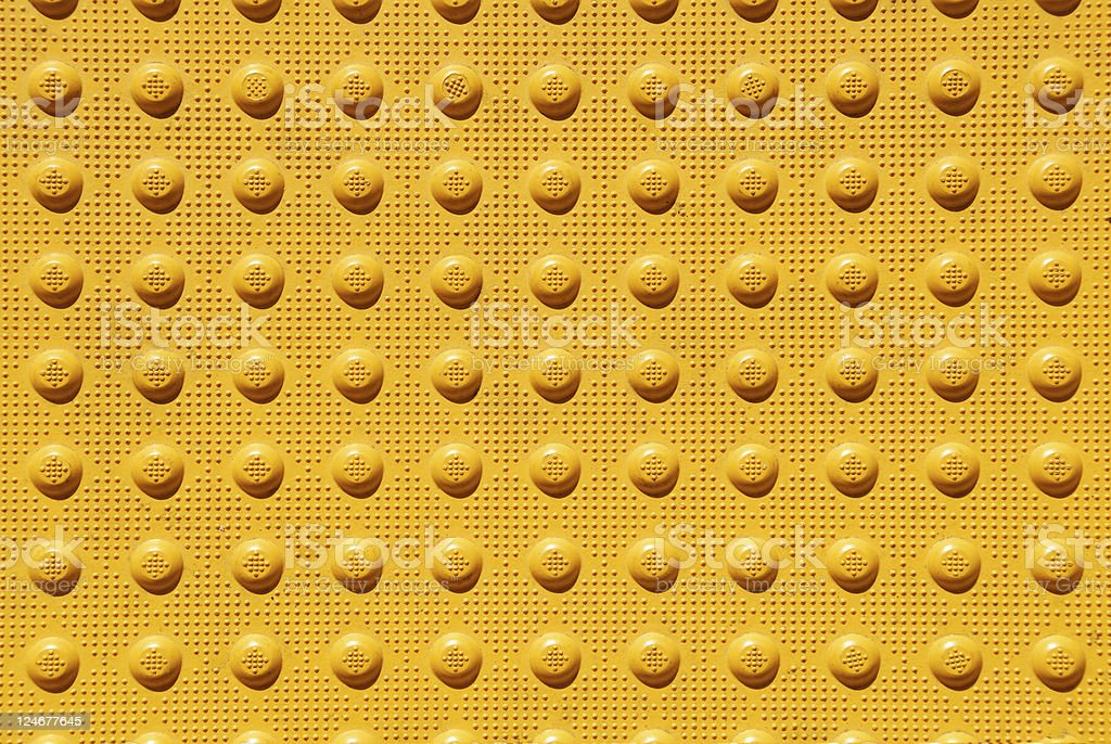 Yellow Patterned Sidewalk Footing royalty-free stock photo