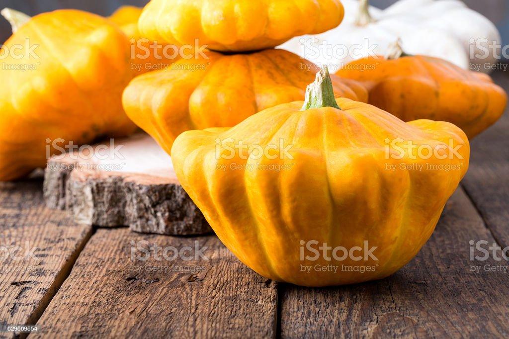 Yellow pattypan squash stock photo
