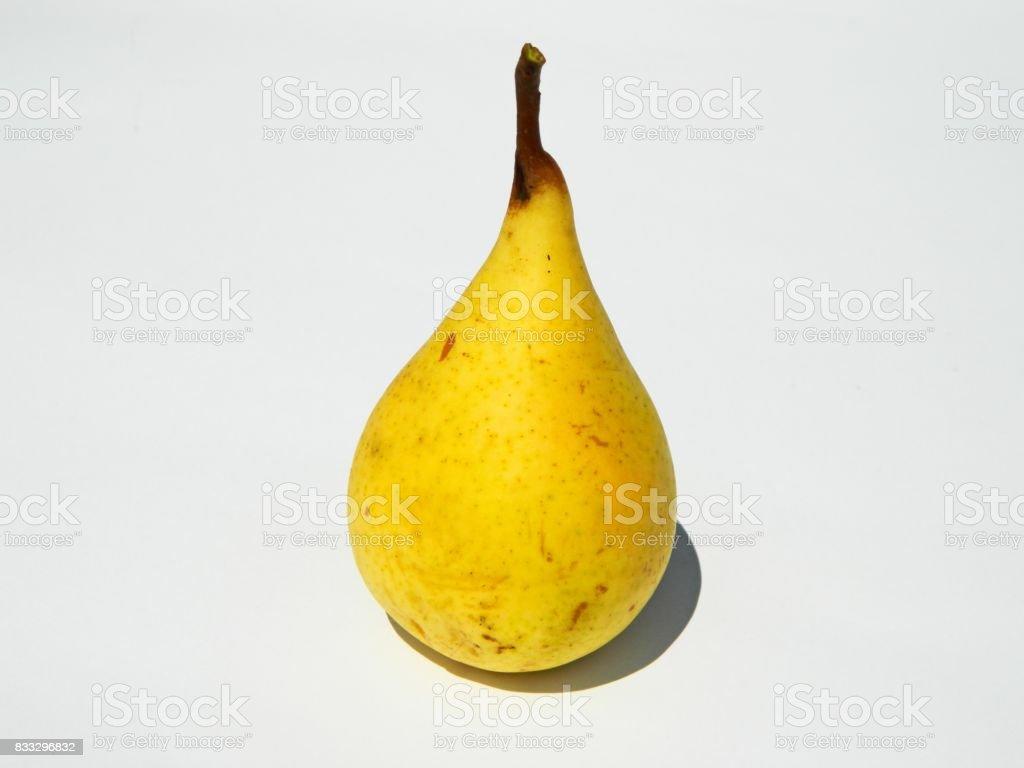 Yellow pear stock photo