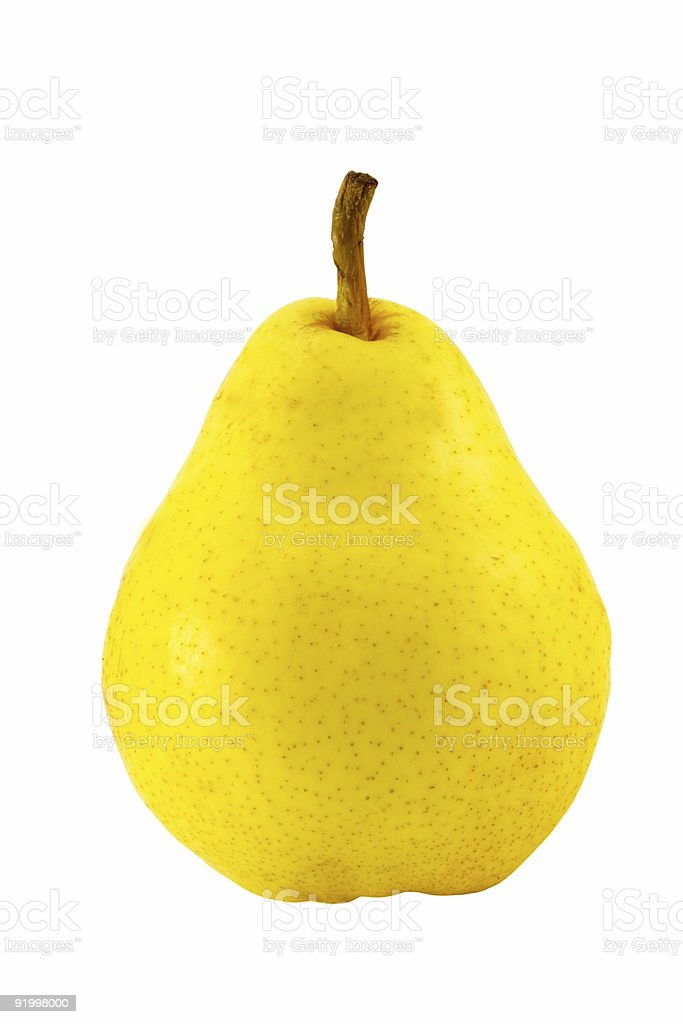 yellow pear stock photo
