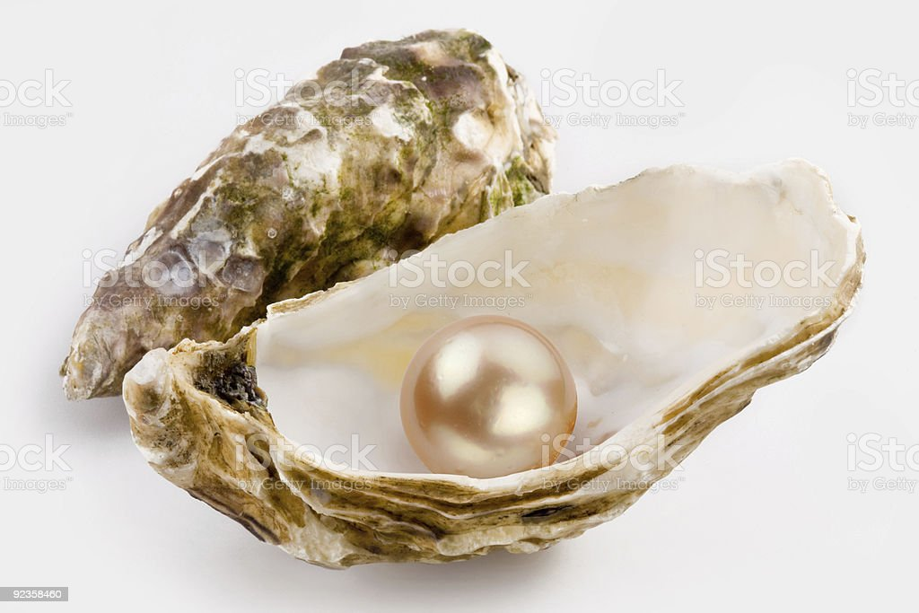 Yellow pearl stock photo