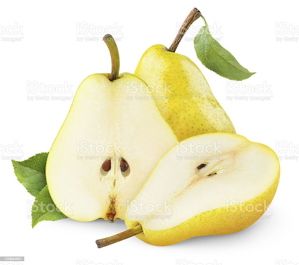 Yellow pears stock photo