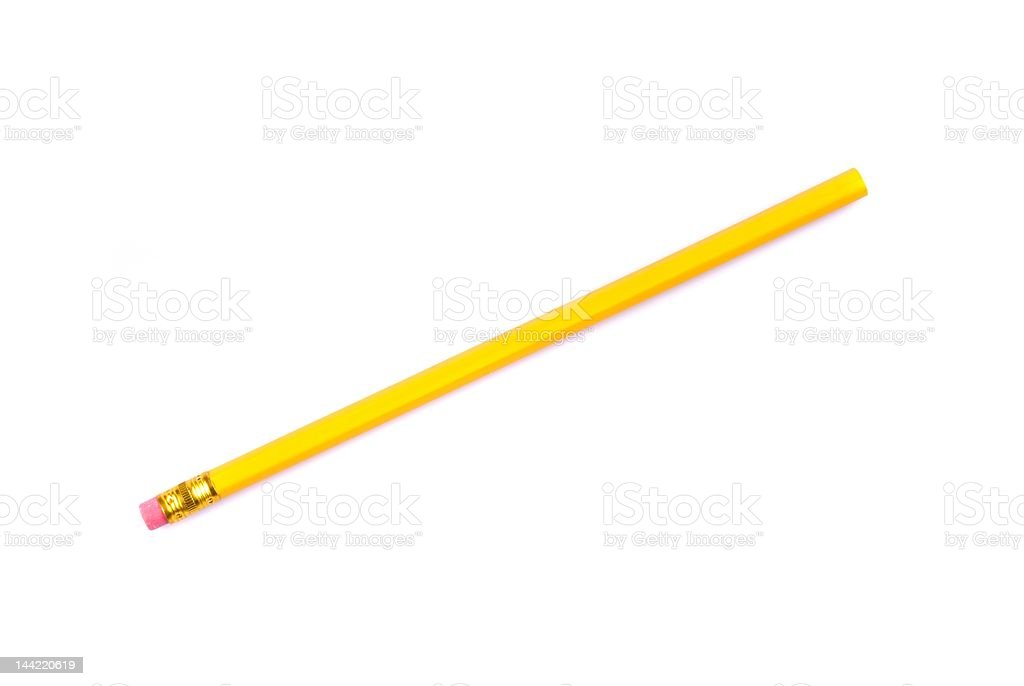 yellow pencil with eraser royalty-free stock photo