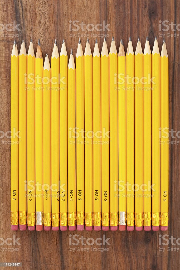 Yellow pencils royalty-free stock photo