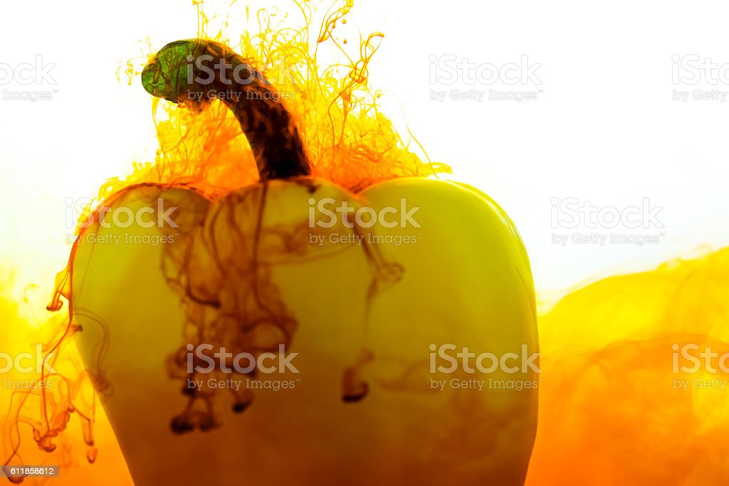Yellow Pepper Diffusion stock photo