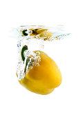 yellow pepper falling
