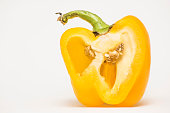 yellow pepper on a white background