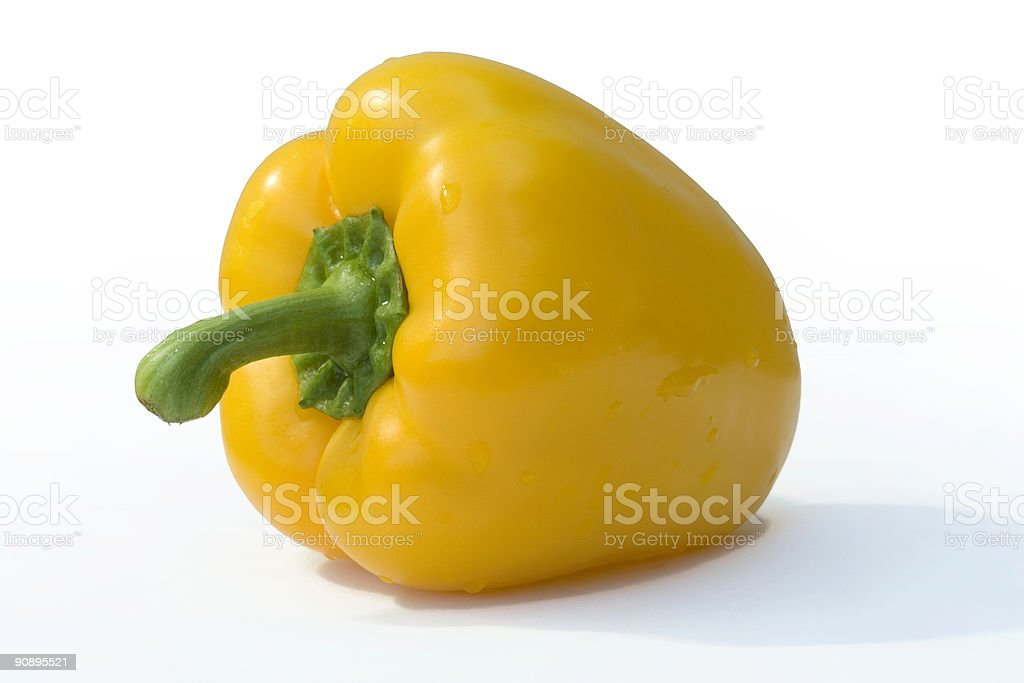Yellow Pepper. stock photo