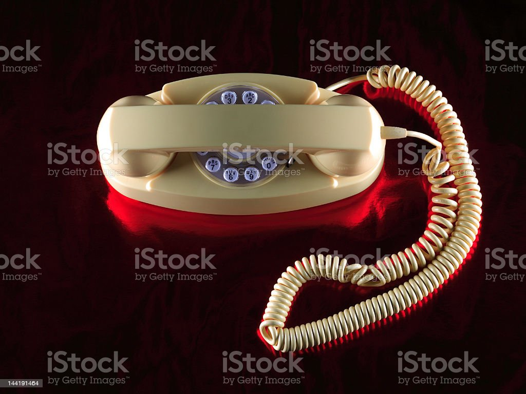 Yellow Phone 1 royalty-free stock photo