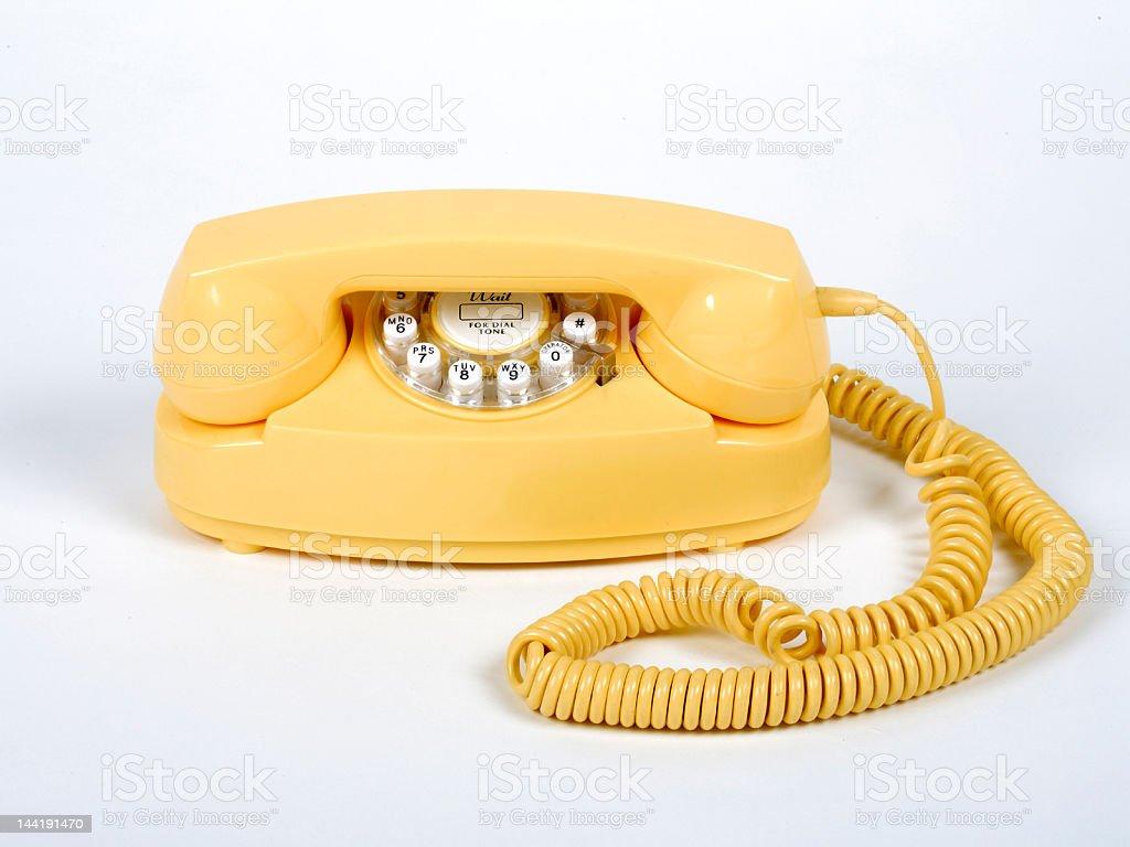 Yellow Phone 2 stock photo