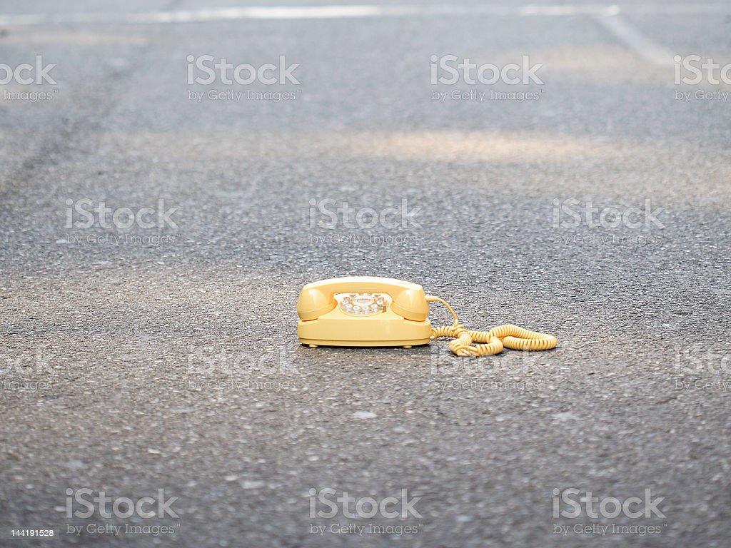 Yellow Phone 4 stock photo
