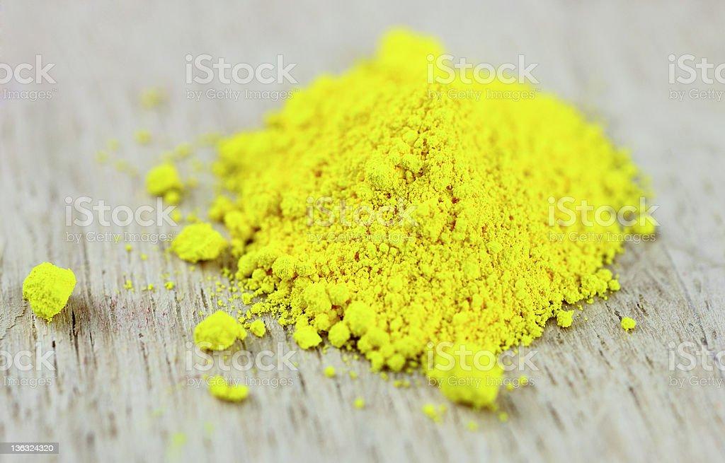 Yellow Pigment royalty-free stock photo
