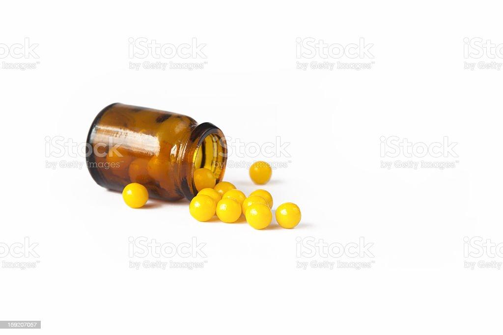 Yellow pills (vitamin) royalty-free stock photo