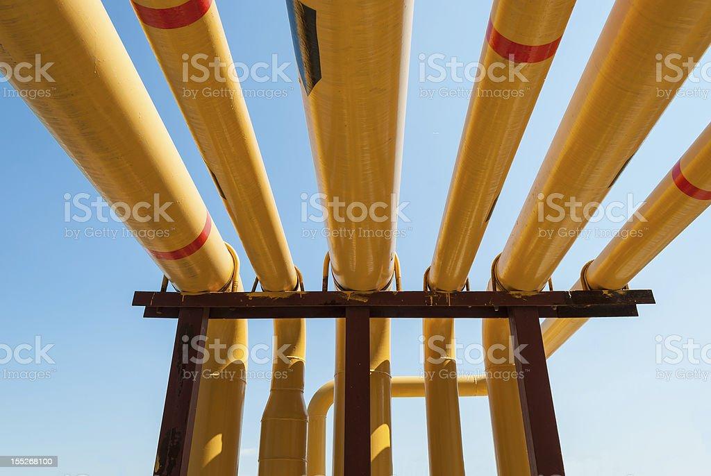 Yellow pipeline. royalty-free stock photo