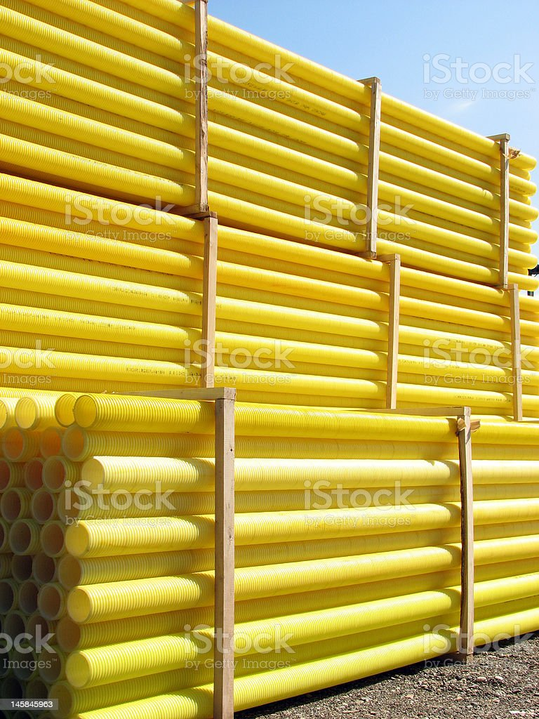 yellow pipes royalty-free stock photo