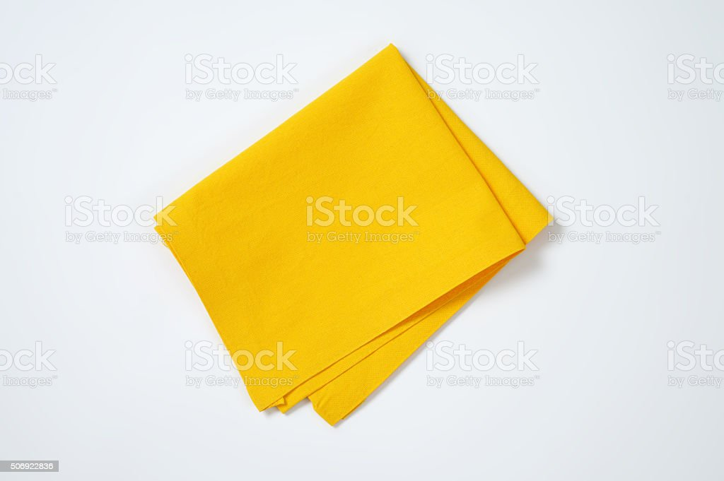 yellow place mat stock photo