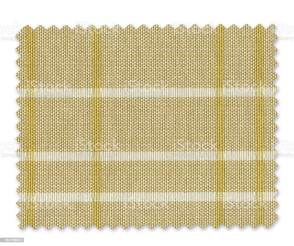 Yellow Plaid Fabric Swatch royalty-free stock photo