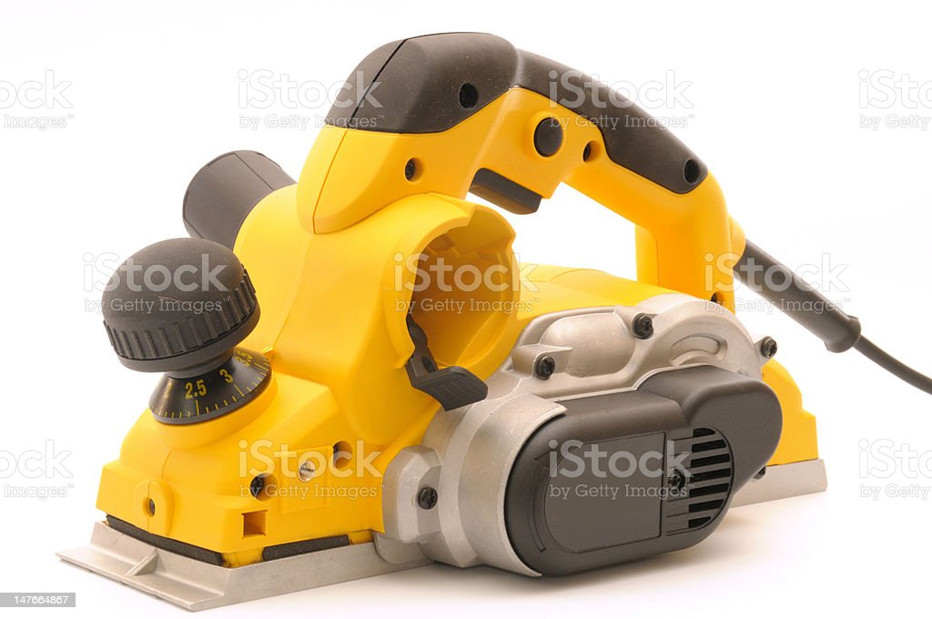 yellow planer royalty-free stock photo